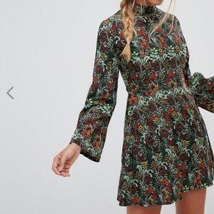 ASOS Floral turtleneck dress US 8